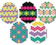 Small Hama bead Easter Eggs, these would work really well with the mini Hama beads