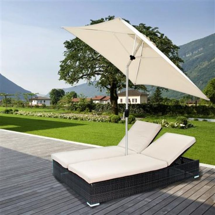 Outdoor double bed