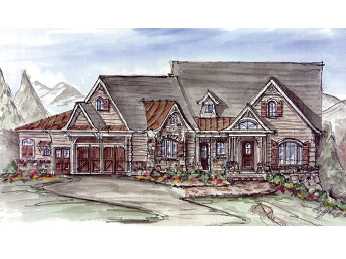 Eplans Craftsman House Plan Luxurious Rustic Mountain