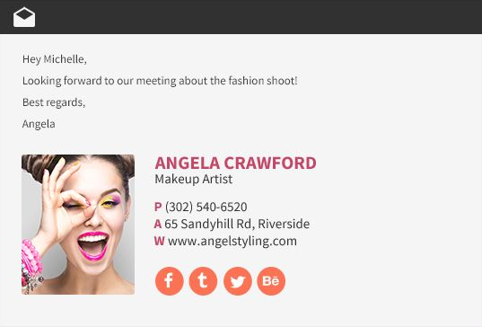 Email Signature Examples, Email Signature Templates, Sample HTML Email…