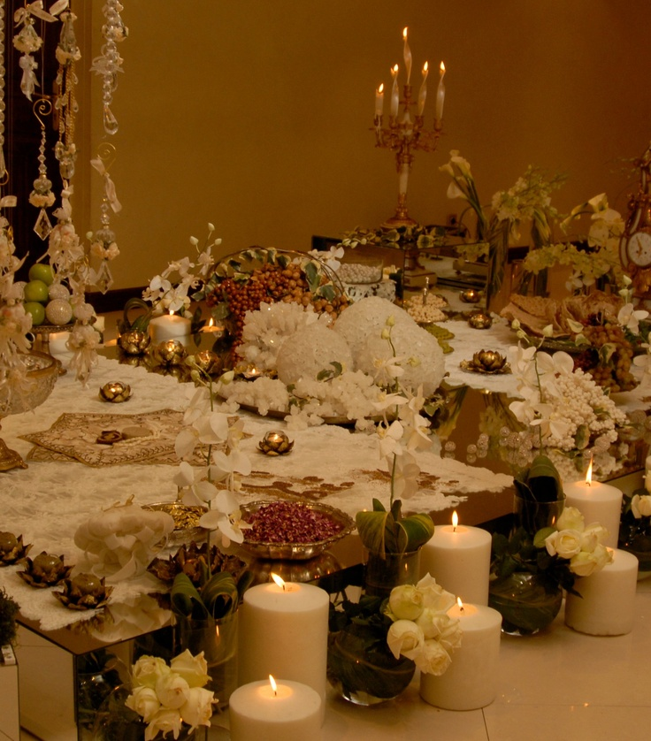 Sofreh aghd the traditional persian wedding ceremony for Persian wedding ceremony table