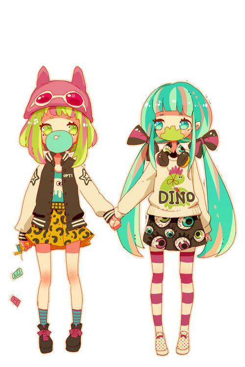 Gumi and Miku