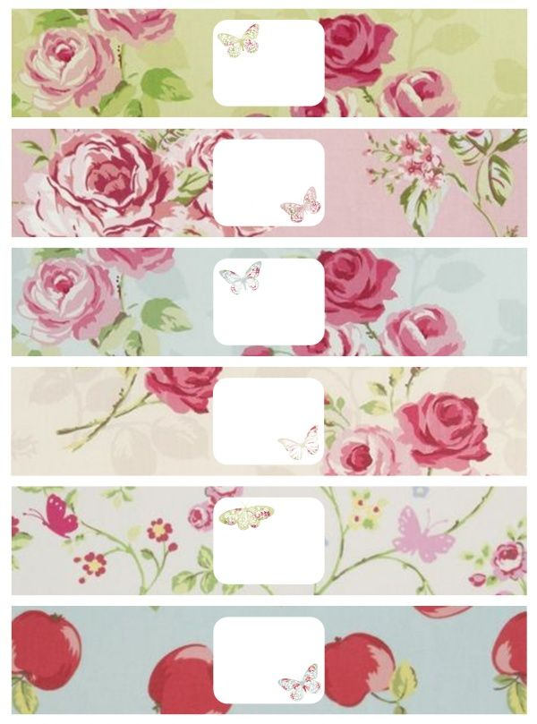 Free printable gift wraps (these are for soap, but would probably work well for other things too!)