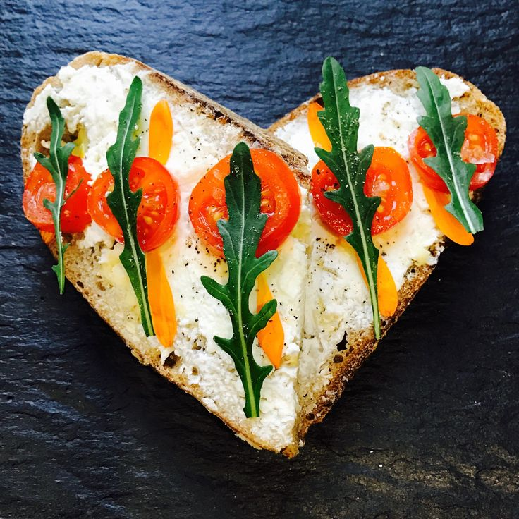 A love-ly piece of sourdough with Ardsallagh soft goats cheese, rocket and tomato.