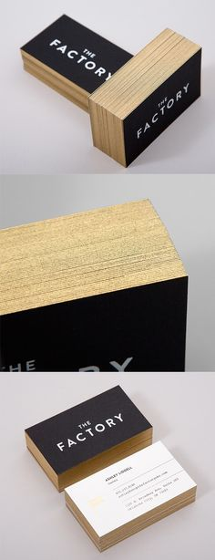 Elegant colors for a business cards. Loving gold!