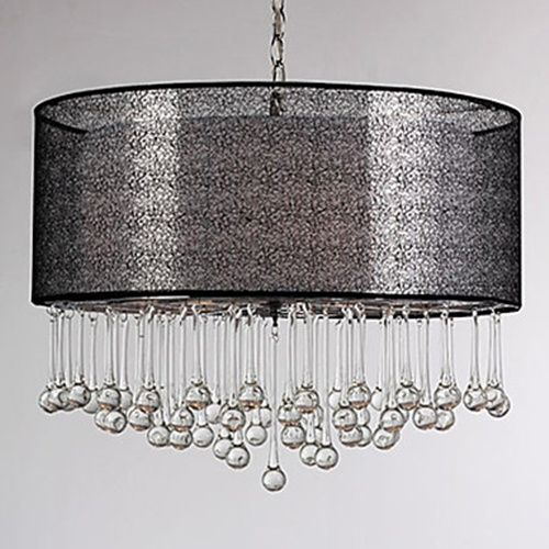 160W Modern Pendant Light With 4 Lights Fissure Style Shade Glass Water Droplet LightSuperDeal
