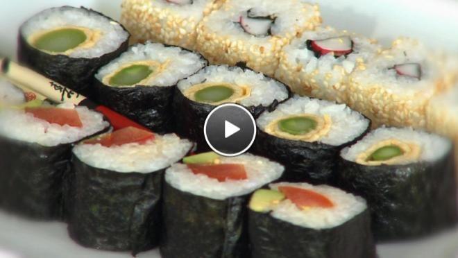 Vegetarische sushi - recept | 24Kitchen