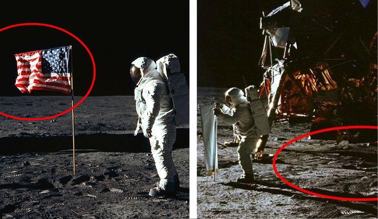 Le 10 prove fotografiche che dimostrano che l'uomo non è stato sulla Luna