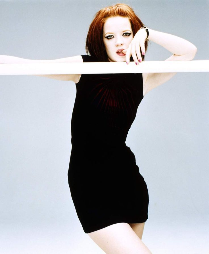 Scottish, red-headed, recording artist and actress, Shirley Manson, lead vocalist of alternative rock band Garbage