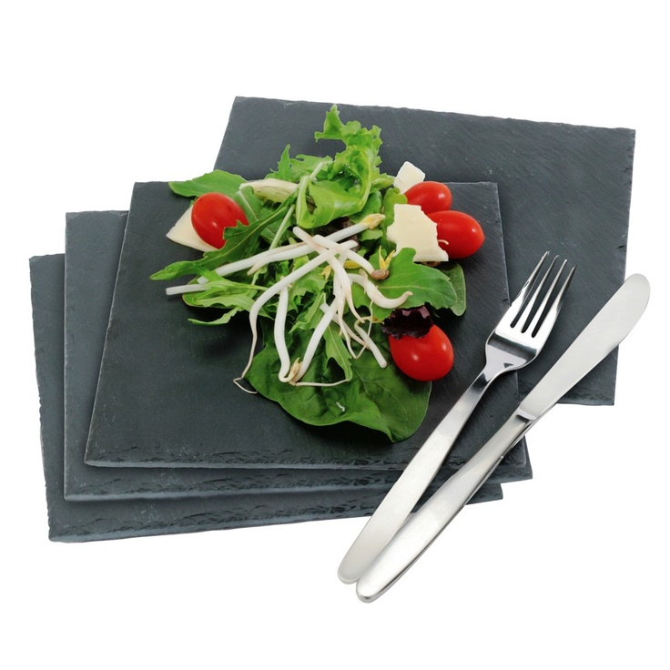 Danesco Set of 4 Slate Plates 6