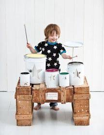 ATELIER RUE VERTE le blog: Une batterie pour enfants mélomanes : DIY