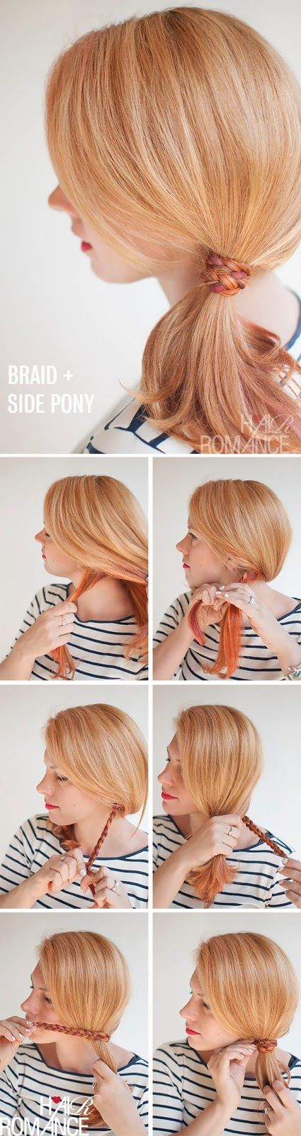 The Freckled Fox : Hair Tutorial: The Braid-wrapped Ponytail