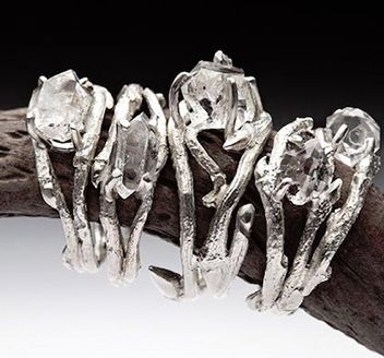 these are some of the coolest engagement rings I've ever seen. they're unique and elven, not that cliche elegant diamond clustered crap.