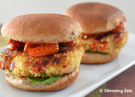 roasted red pepper & quinoa burgers slimming world