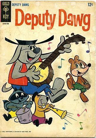 Deputy Dawg comic book by Gold Key publishing