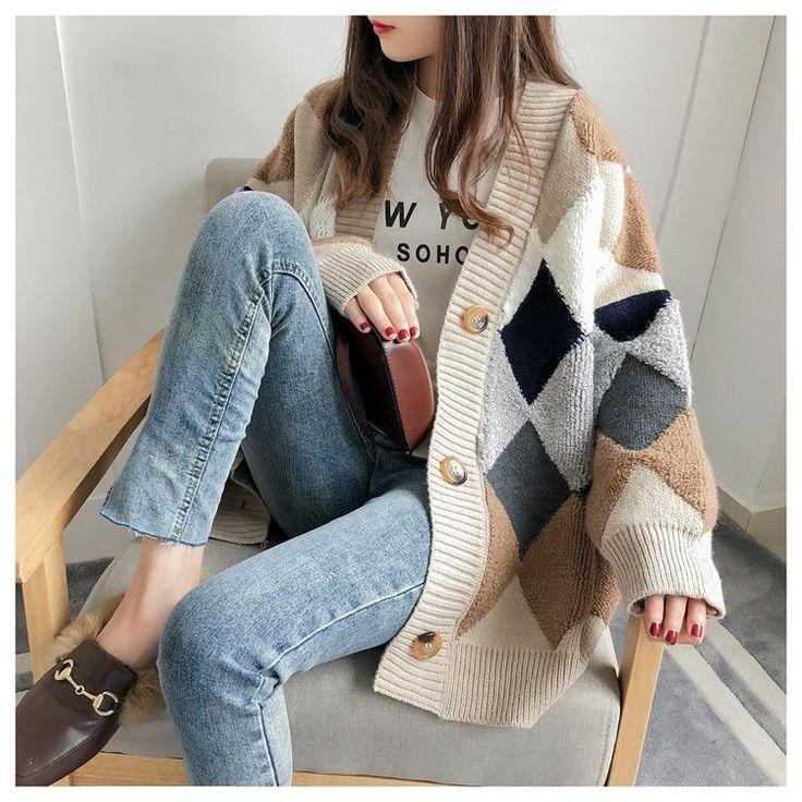 Loose Sweater, Sweater Coats, Sweater Cardigan, Women's Sweaters, Oversized Cardigan, Casual Sweaters, V Neck Cardigan, Cute Oversized Sweaters, Dress With Cardigan