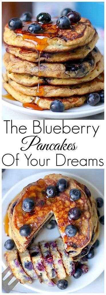 The Blueberry Pancakes Of Your Dreams - these are seriously THE BEST.