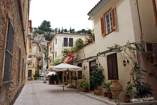 Street on the rear side of the Archaeological Museum in #Nafplio, #Peloponnese - #Greece