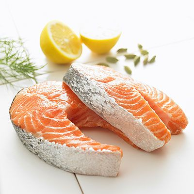 Salmon    If you've been Ms. Negativity lately, you may want to go fishing for the long-chain omega-3 fatty acids eicosapentaenoic acid (EPA) and docosahexaenoic acid (DHA). While all omega-3s are healthy, you get the most benefit from EPA and DHA, found in salmon, tuna, and other fatty fish.