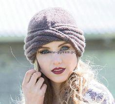 Эта шапка начинается с небольшого кольца Мёбиуса, связанного секциями лицевой и изнаночной глади. Спереди чалма, а сзади классический колокол.Размер:окр. 51 см. и 20 см высотаДля вязания шапки-чалм…