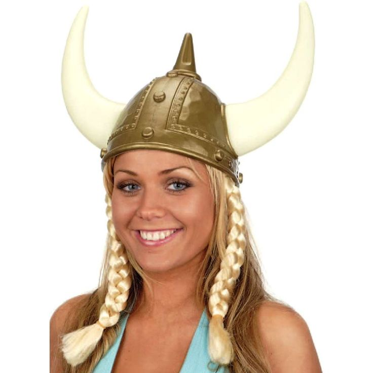 jacobson hat company womens viking hat with braids gold