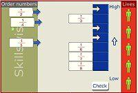 Fraction Games - Order the Fractions