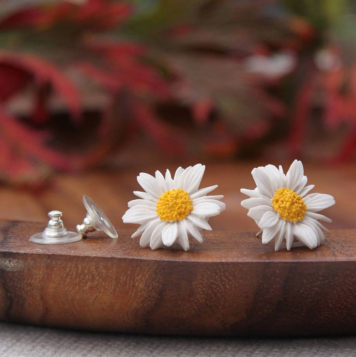 Love these daisy earrings!! so cute!   Not on the hight street.com