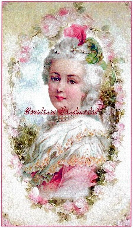 Victorian Lady In Pink Reproduction Cotton By
