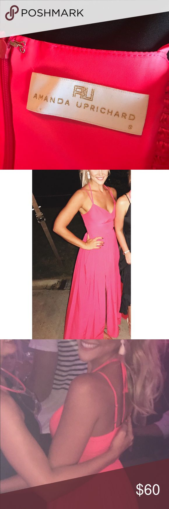 Amanda Uprichard Maxi Dress 💋 This dress is killer! I danced a little too hard in it and torn one of the slits a little deeper (as shown in pic) but it's not noticeable when your wearing it. Needs to be dry cleaned 💘 Amanda Uprichard Dresses Maxi