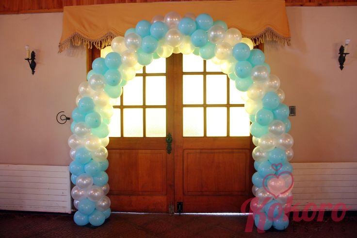 Arco para bautizo. Kokoro fiestas. | GLOBOS - De Kokoro Fiestas ...