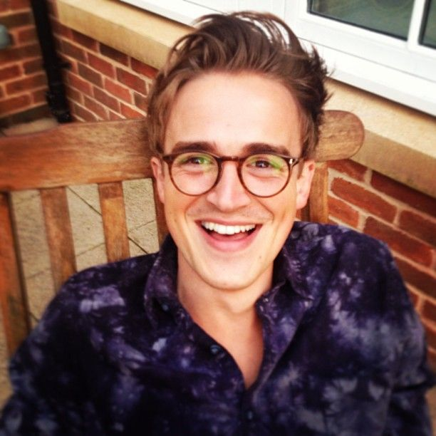 Tom's new glasses!  Tumblr / Giovanna Fletcher