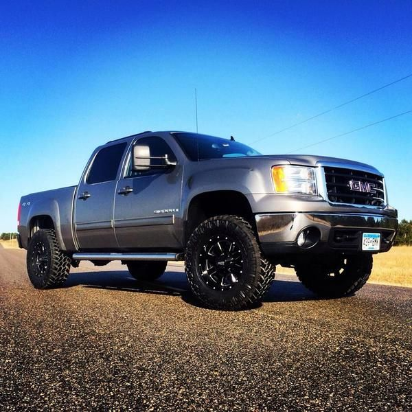 Lifted GMC Sierra truck