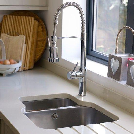 White-gloss kitchen units   Contemporary kitchen ideas   housetohome.co.uk   Mobile