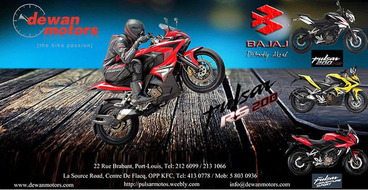Dewan Motors Company Ltd - Launch of New Model BAJAJ - PULSAR 200RS & PULSAR 200AS. Tel: 213 1066 / 413 0778 / 58 03 09 36