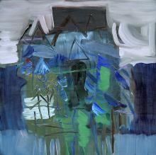 "Adnan TURANİ, ""İsimsiz"",1988,Tuval Üzerine Yağlıboya,80x80 cm."