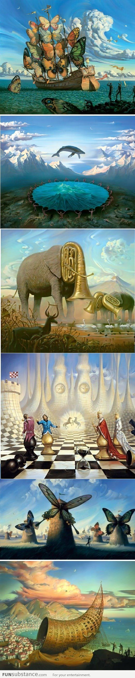 Surrealistic painter: Vladimir Kush, one of my favorite contemporary artists, he reminds me of Dali, whose work was a tremendous inspiration to me.