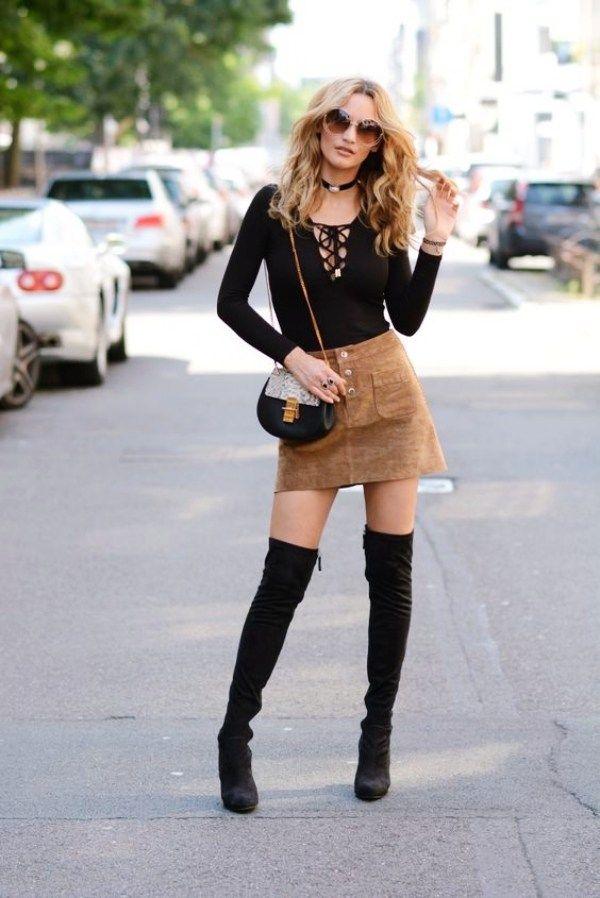 40 neueste Outfit-Ideen für kniehohe Stiefel