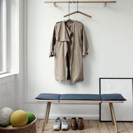top3 by design - Skagerak - georg bench + cushion oak