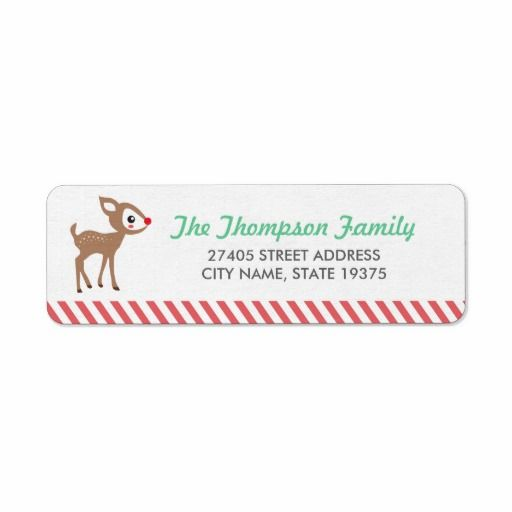 Holiday address labels with Rudolph #giftwrap #rudolph #reindeer #addresslabels #holidaywrapping #zazzle