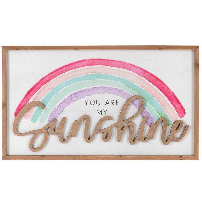 You Are My Sunshine Rainbow Wood Wall Decor Hobby Lobby 5227558 Rainbow Wood Rainbow Girls Room Girls Wall Decor