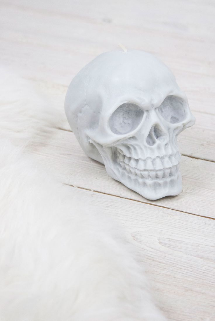 Grey Skull Candle #skulls #home #homeware #interiors #candles