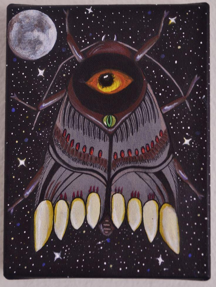 Moth, acrílico sobre lienzo por Jessica Millan G.