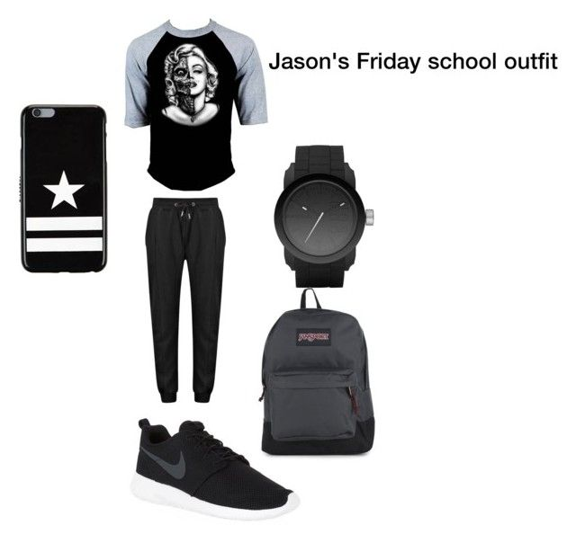 """""""Jason wilkinson's Friday school outfit """" collide """" wattpad story"""" by monsterleahhh ❤ liked on Polyvore featuring NIKE, Diesel, JanSport, Givenchy, men's fashion and menswear"""