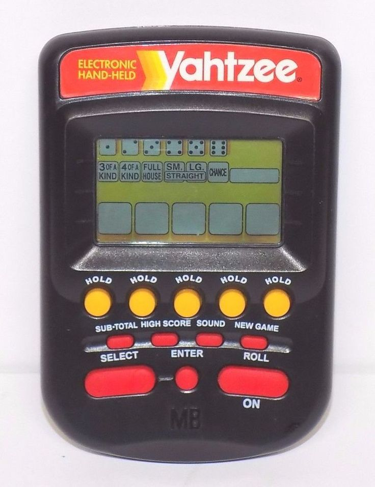Milton Bradley Handheld Electronic Yahtzee Game (1995) #MiltonBradley