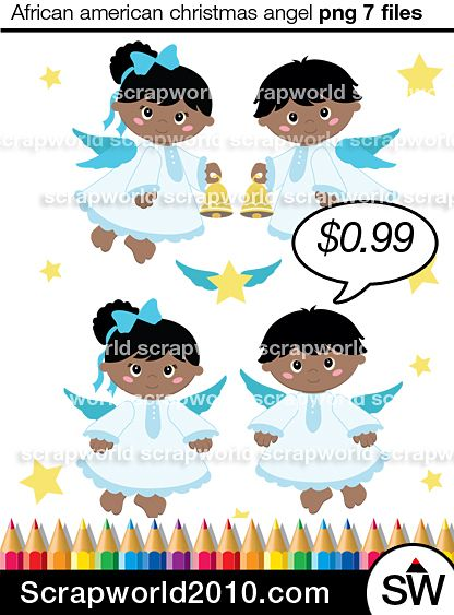 african american angel clipart cute angel Royalty Free angel clipart inckudes 6 files. 2boys,2girls angeles,3star png & jpg for small commercial use.