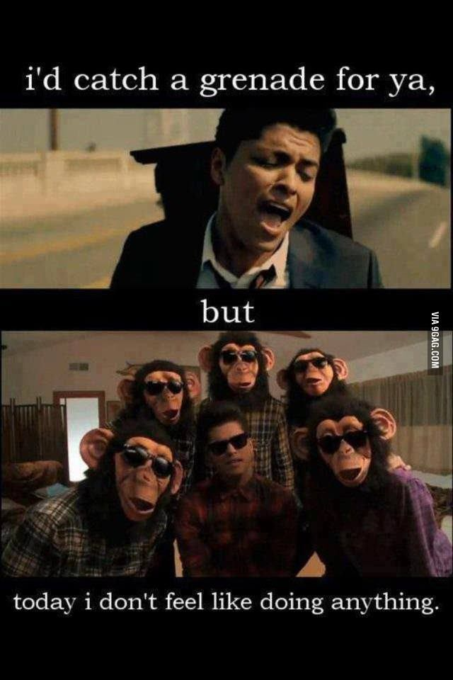 Bruno mars getting lazy