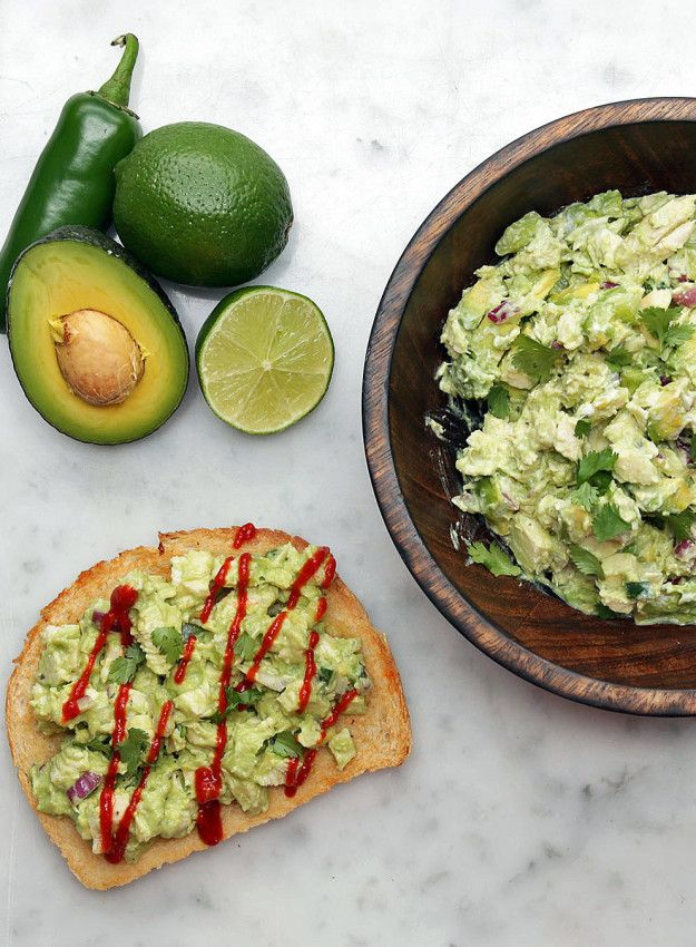 Avocado Chicken Salad Toast | This Avocado Chicken Salad Is Perfect For Make-Ahead Lunches