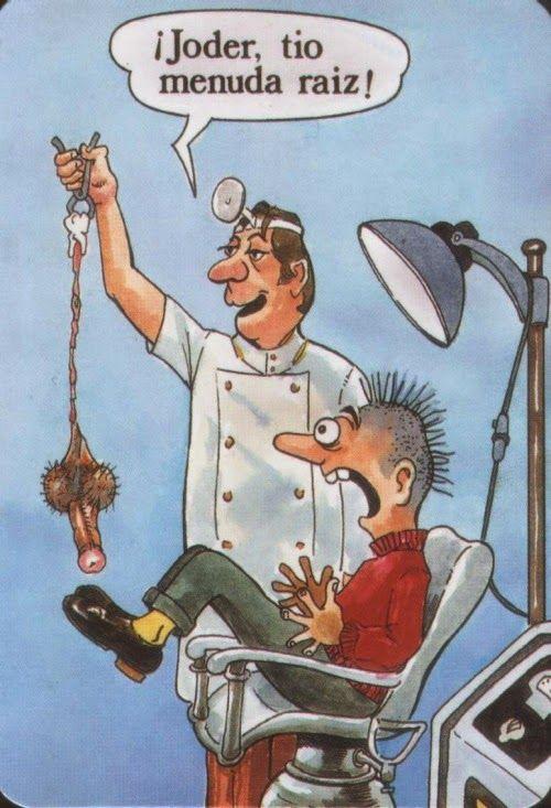 Algunos no saben parar #humor #viñetas #humorgráfico #dentista