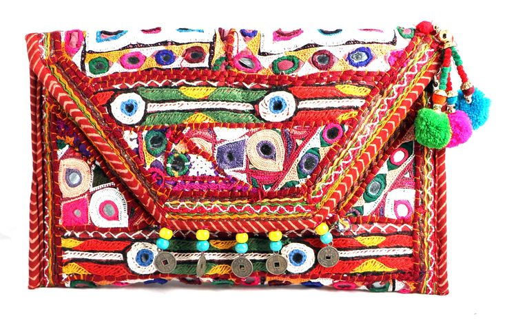 ASSORTED KUTCH EMBROIDERY FABRIC BAG . SNAP BUTTON CLOSING. INSIDE LINING & TOP ZIP CLOSING. INSIDE ONE SMALL ZIP POCKET .  #Buyhandbagsonline #HandmadeHandbags #Authenticdesignerhandbags #Womenswallets #Pursesonline #Handmadeitems #Styleincraft