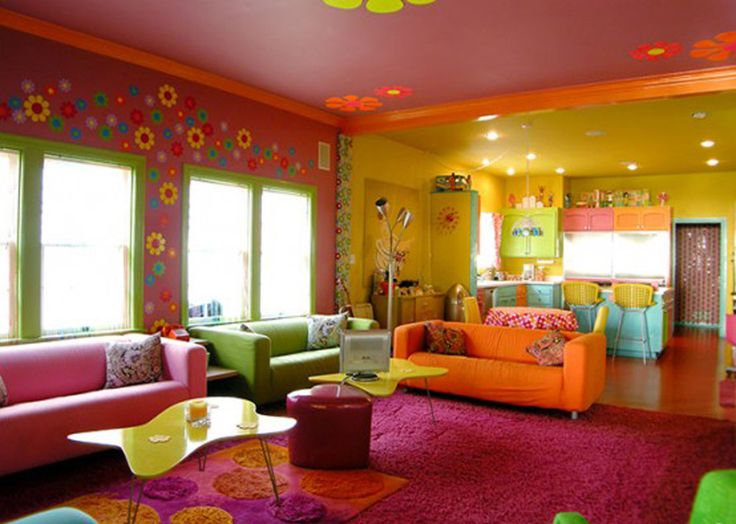 Colorful Modern Living Rooms stunning bright living room colors contemporary - awesome design